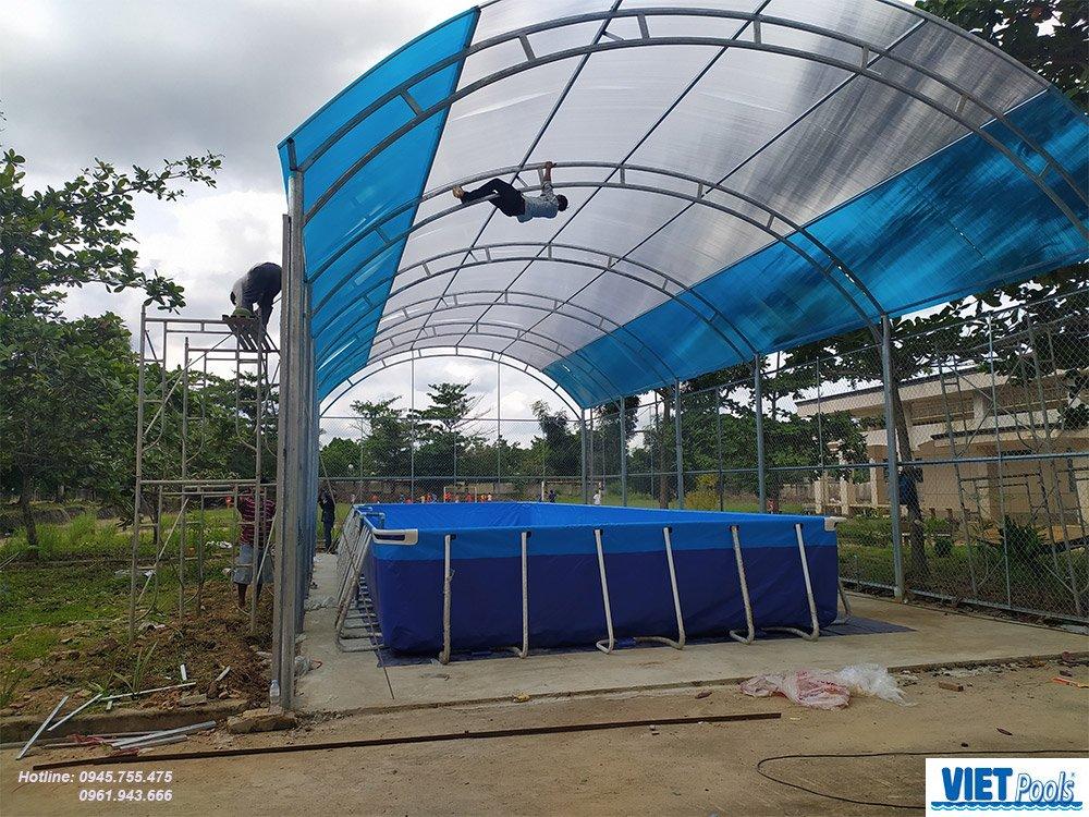 Thi công lắp đặt bể bơi thông minh trường học
