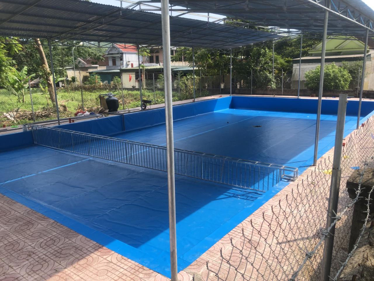 hồ bơi - bể bơi âm lót bạt pvc