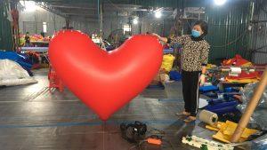 trái tim bơm hơi sự kiện