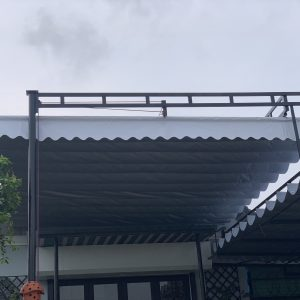 mái bạt xếp - mái lùa che nắng mưa