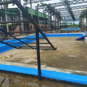 mặt bằng thi công bể bơi