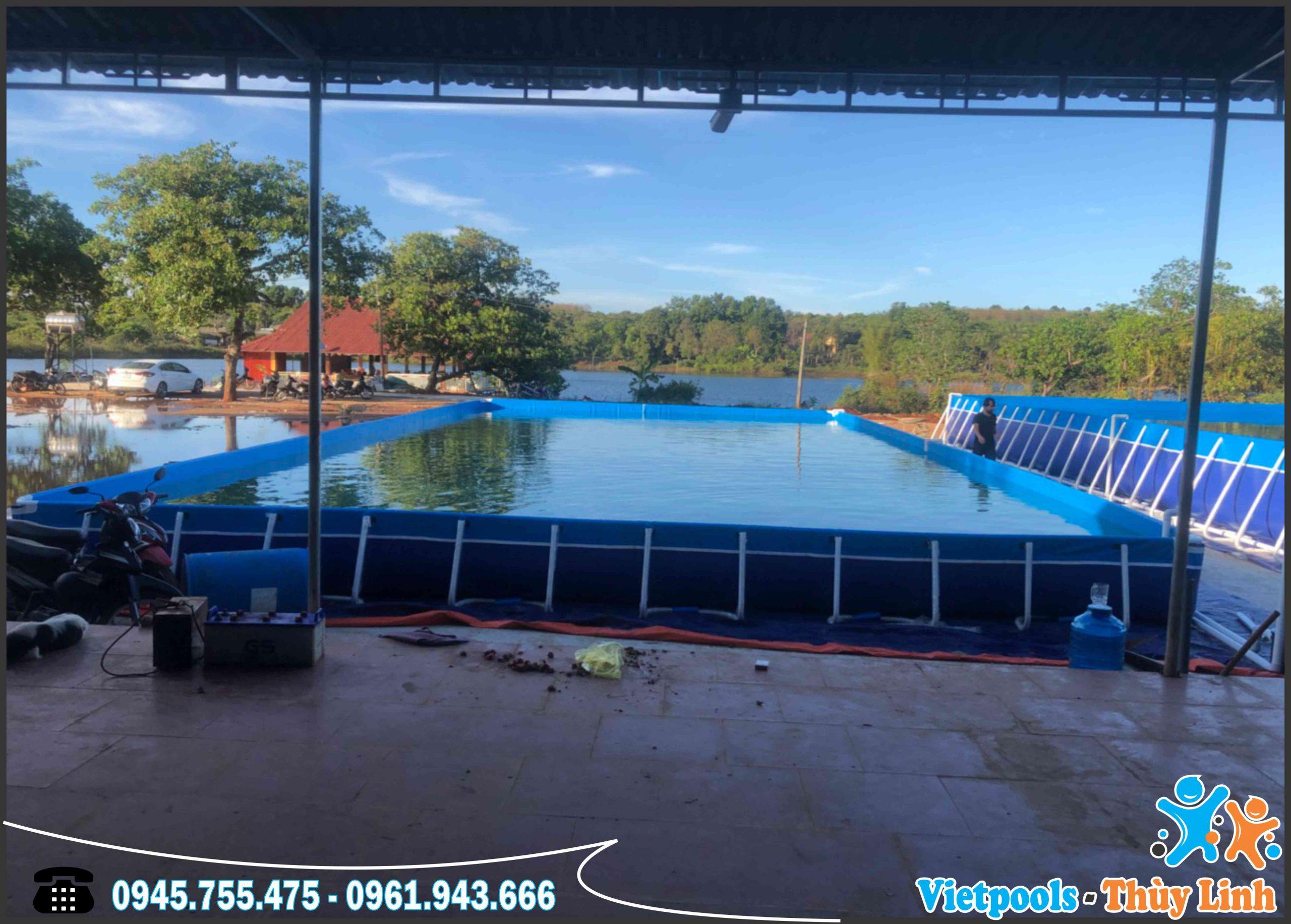 Hồ bơi lắp ghép di động, Bể bơi khung kim loại