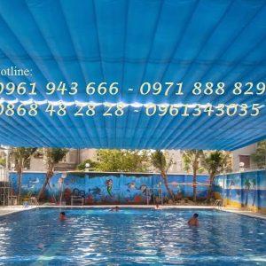 Bể bơi âm lót bạt PVC/ Hồ bơi âm/ Bể bơi bạt