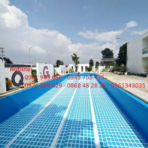 Bể bơi âm lót bạt PVC đẹp