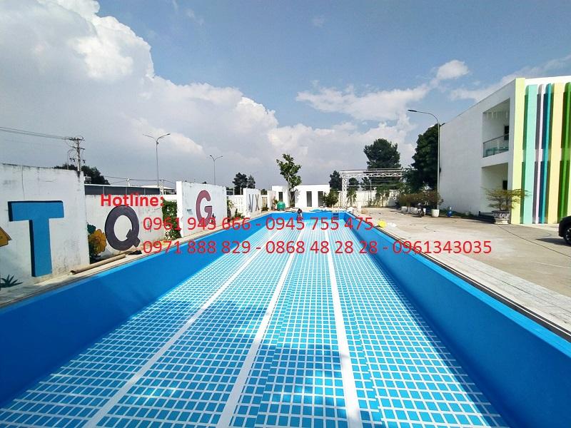 Bể bơi âm lót bạt PVC/ Hồ bơi âm lót bạt PVC/ Bể bơi bạt