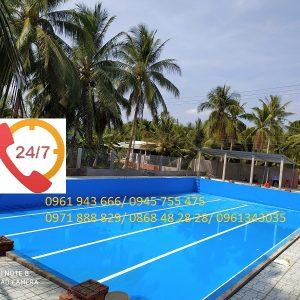 Bể bơi âm lót bạt PVC/ Hồ bơi âm lót bạt