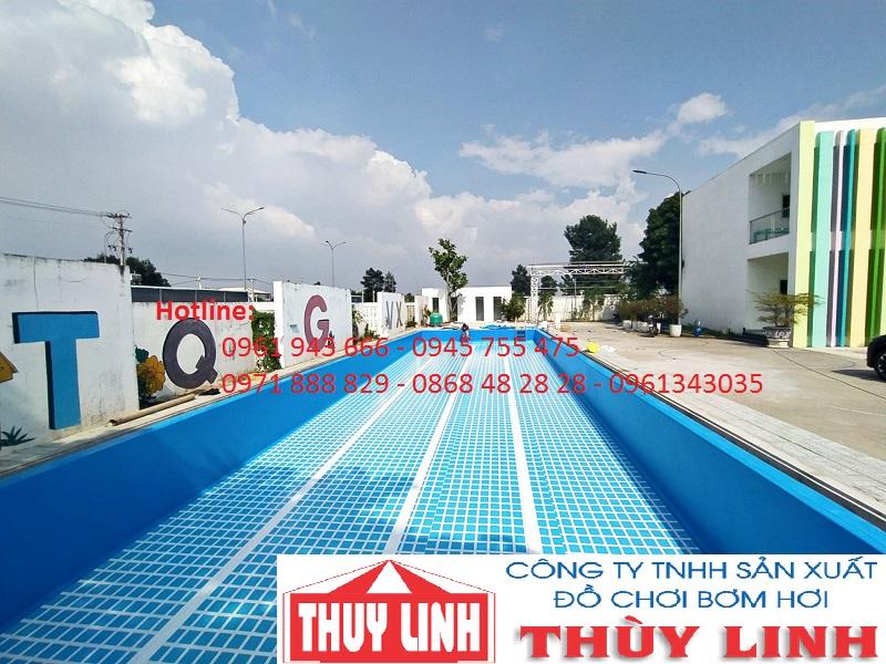 Bể bơi âm lót bạt PVC