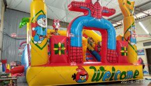 Nhà phao mini siêu nhân nhện 3m x 4m 1