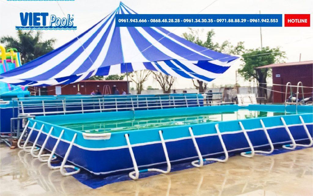 Bể Bơi Lắp Ghép Khung Kim Loại - Bể Bơi Lắp Ghép 11