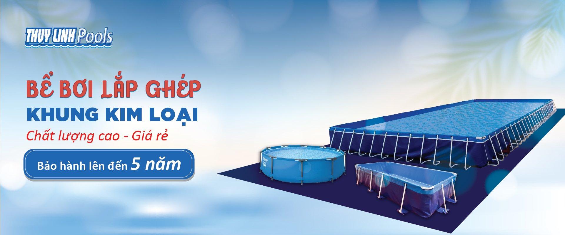 Bể Bơi Lắp Ghép Khung Kim Loại - Bể Bơi Lắp Ghép 1